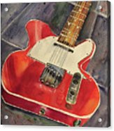 Red Telecaster Acrylic Print