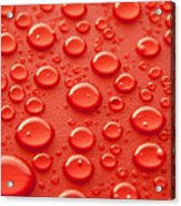 Red Water Drops Acrylic Print