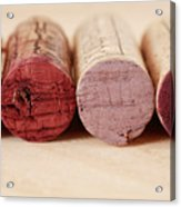 Red Wine Corks Acrylic Print