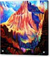 Redder Mountain Acrylic Print