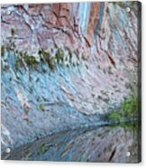 Reflections In Oak Creek Canyon Acrylic Print
