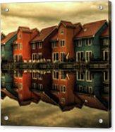 Reflections Of Groningen Acrylic Print