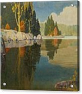 Reflective Lake Acrylic Print