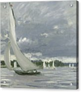 Regatta At Argenteuil Acrylic Print by Claude Monet