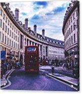 Regent Street In London Acrylic Print