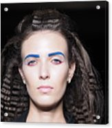 Rehearsals On The Catwalk Of London Fashion Week 2015 Acrylic Print