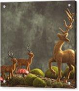 Reindeer Scene Acrylic Print