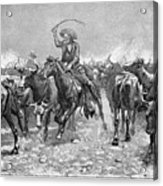 Remington: Cowboys, 1888 Acrylic Print by Granger