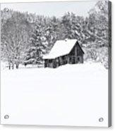 Remote Cabin In Winter Acrylic Print