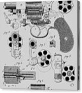 Revolving Fire Arm Patent 1881 Acrylic Print