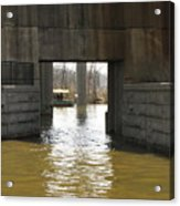 Richmond Floodwall Opening For Canal Acrylic Print