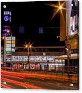 Riga By Night Acrylic Print