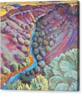 Rio Grande In September Acrylic Print by Gina Grundemann