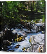 River In Wales Acrylic Print