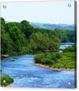River Wye From Hay-on-wye Bridge Acrylic Print