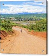 Road Landscape In Tanzania Acrylic Print
