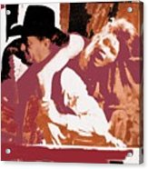Robert Mitchum Hauls Angie Dickinson Collage Young Billy Young Old Tucson Arizona 1968-2013 Acrylic Print