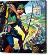 Robin Hood Acrylic Print by James Edwin McConnell