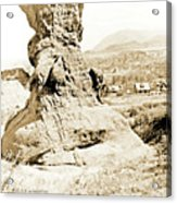 Rock Formation, Garden Of The Gods, 1915, Vintage Photograph Acrylic Print