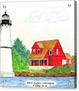 Rock Island Lighthouse Acrylic Print