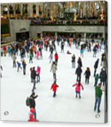 Rockefeller Center Skating Rink New York City Acrylic Print