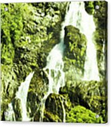 Rocky Mountain Waterfall Acrylic Print