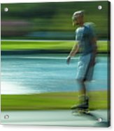 Rollerblading In Forest Park Acrylic Print