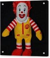 Ronald Mcdonald Acrylic Print