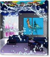Rooftop Saltwater Fish Tank Art Acrylic Print