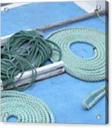 Ropes And Bolt Hook Acrylic Print