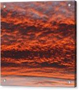 Rosy Sky Acrylic Print by Michal Boubin