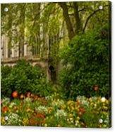 Rouen Abbey Garden Acrylic Print