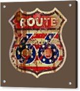 Route 66 T-shirt Acrylic Print