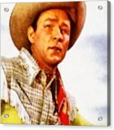 Roy Rogers, Vintage Western Legend Acrylic Print