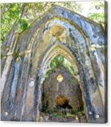 Ruins Of Chapel Sintra Acrylic Print