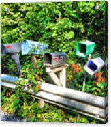 Rural Mailboxes  Acrylic Print