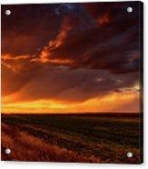 Rural Sunset Beauty Acrylic Print