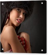 Russian Pin-up Girl Acrylic Print