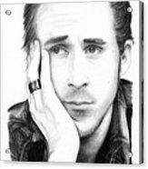 Ryan Gosling Acrylic Print