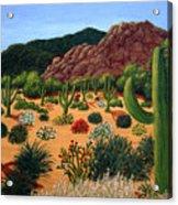 Saguaro Desert Acrylic Print