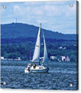 Sail Boat On The Hudson River Acrylic Print