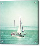 Sailboat In San Francisco Bay Acrylic Print
