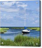 Sailboat Salt Marsh Acrylic Print
