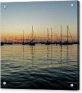 Sailboats At Sunrise  Acrylic Print
