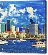 Sailing In San Diego Bay  Acrylic Print