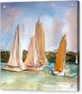 Sailing  Acrylic Print by Julie Lueders
