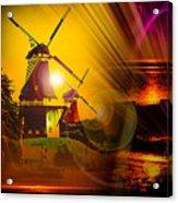 Sailing Romance Windmills Acrylic Print