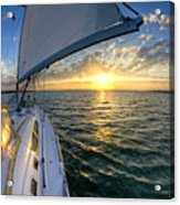Sailing Sunset Charleston Sc Beneteau 49 Acrylic Print