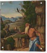 Saint Jerome In A Landscape Acrylic Print