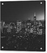 San Francisco At Sunset Acrylic Print